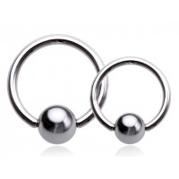 Украшение для пирсинга (кольцо) из стали 316L 1.6 мм