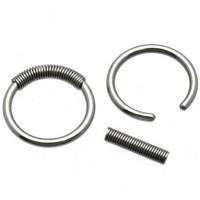 Украшение для пирсинга (кольцо) из стали 316L с пружиной