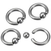 Украшение для пирсинга (кольцо) из стали 316L 3 мм - 10 мм