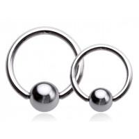 Украшение для пирсинга (кольцо) из стали 316L 1.0 мм